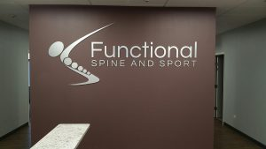 Custom Lobby Sign for Functional Spine & Sport