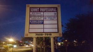 Florida Family Care Pole Sign