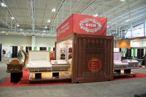 Casket Custom Trade Show Booth