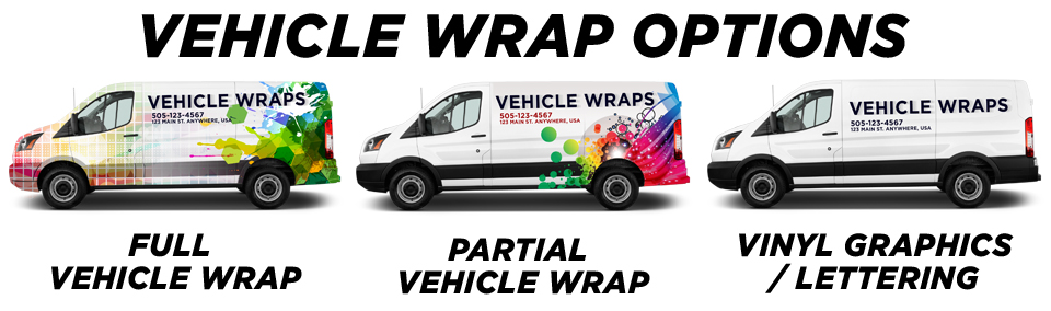 Waukegan Vehicle Wraps vehicle wrap options