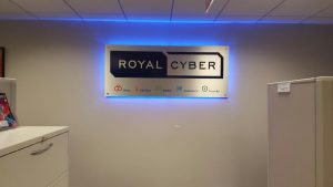 Backlit Lobby Sign Royal Cyber