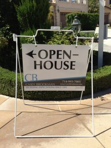 Custom Real Estate Open House Yard Sign