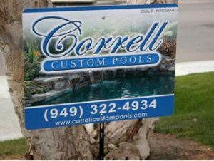 Custom Pool Service Yard Signs
