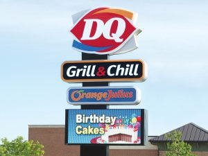 Illinois Custom Business Pole Signs Provide Ultimate Visibility 0092 Dairy Queen Bendsen Sign  Graphics W 19mm 80x176 Bloomington IL 101718 1 300x225